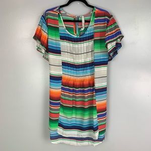 Melissa McCarthy Seven7 pleated striped top NWT
